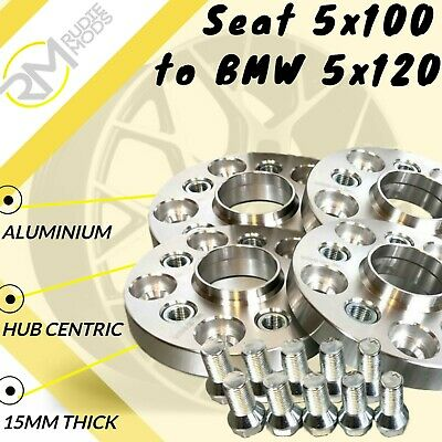 BMW 5x120 72.5 asiento 5x100 20mm Hubcentric PCD Adaptadores-Insertos De Acero