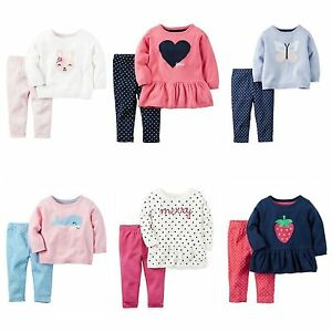 b845d6907 NWT  34- 40 Carter s Infant Girl 2-Piece Sweater Leggings Sets ...