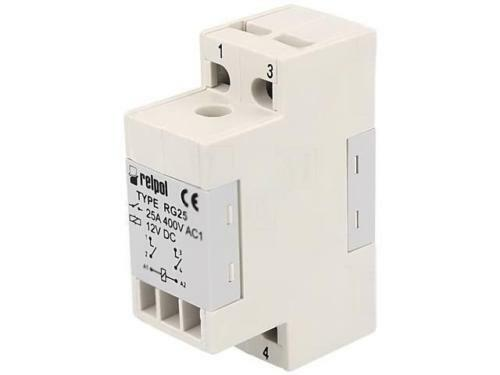 RG25-12VDC Relay electromagnetic DPST-NO Ucoil12VDC 25A//400VAC 40A RELPOL