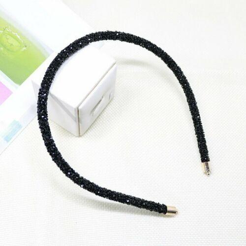 Fashion Soft Rhinestone Hairband Bead Bezel Girl Hair Accessory Simple Headwear