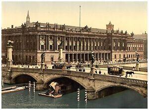 Berlin Reichstag mit Siegessäule ca 1890 Papier Leinwand