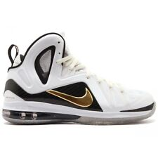 Nike Lebron 9 P.S. Elite SZ 13.5 Home White Metallic Gold Black James 516958-100
