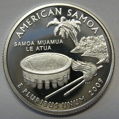 US Territory Quarter c//n clad 2009-S Deep Cameo GEM  Proof American Samoa
