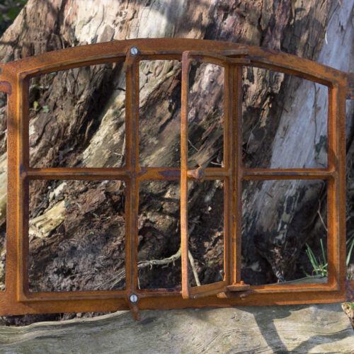 Fenster für antike Mauer Eisenfenster für Gartenmauer 57x42 Stallfenster