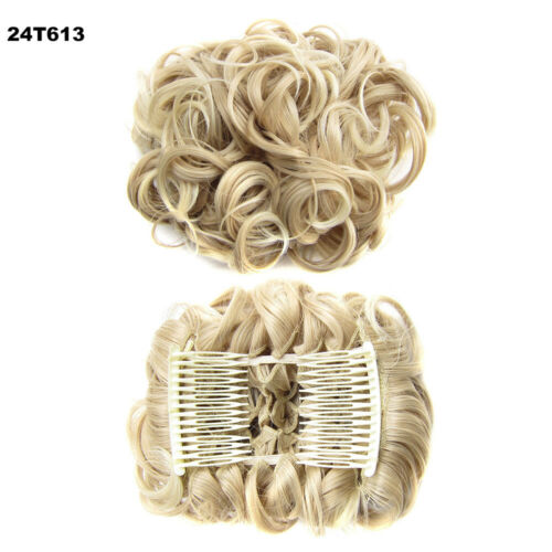Curly  Plastic Comb  Hair Ponytail Extensions Hair Bun Chignon  Synthetic Hair