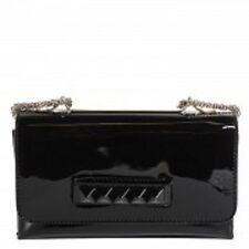 Valentino Garavani Black Rockstud Va Va Voom Patent Leather Hand Bag / Purse