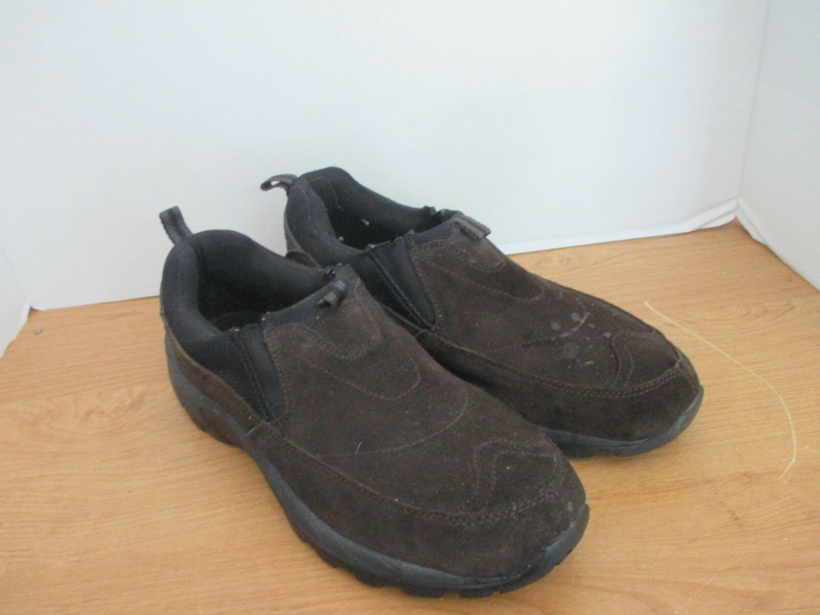 DENALI~Dark SLIP Brown Suede Leather SLIP DENALI~Dark ON CASUAL SHOES~Men's 9.5 091887