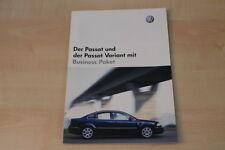 68924) VW Passat + Variant Business Paket Prospekt 05/2003