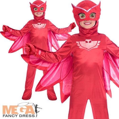 Deluxe owlette Robe FANTAISIE Fille PJ Masques Super-héros animal Enfants Enfant Costume