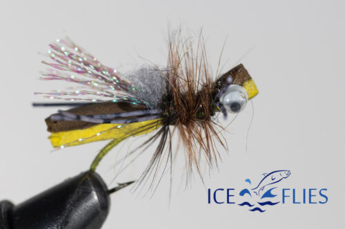 Foam Hooper Size 8  and 10 Hooper tan ICE FLIES Bubbas hog caller 2 pack