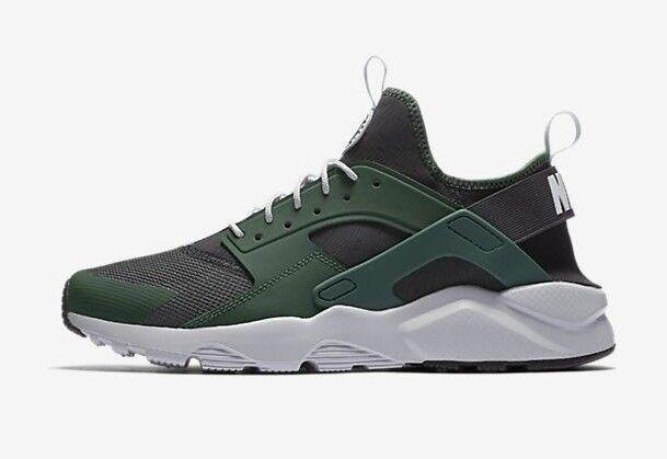 Nike Men's Shoes AIR HUARACHE RUN ULTRA Shoes Men's Green/Black 819685-301 b Size 10 9eb74f