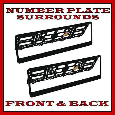 2x Abs Negro placa de matrícula rodea titular Marco Para Porsche