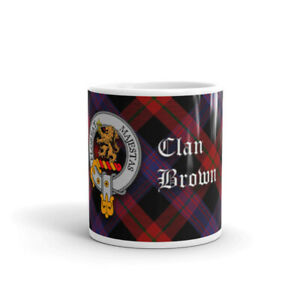 Brown-Clan-Crest-Coffee-Tea-Mug-Scottish-Cup-10oz-295ml