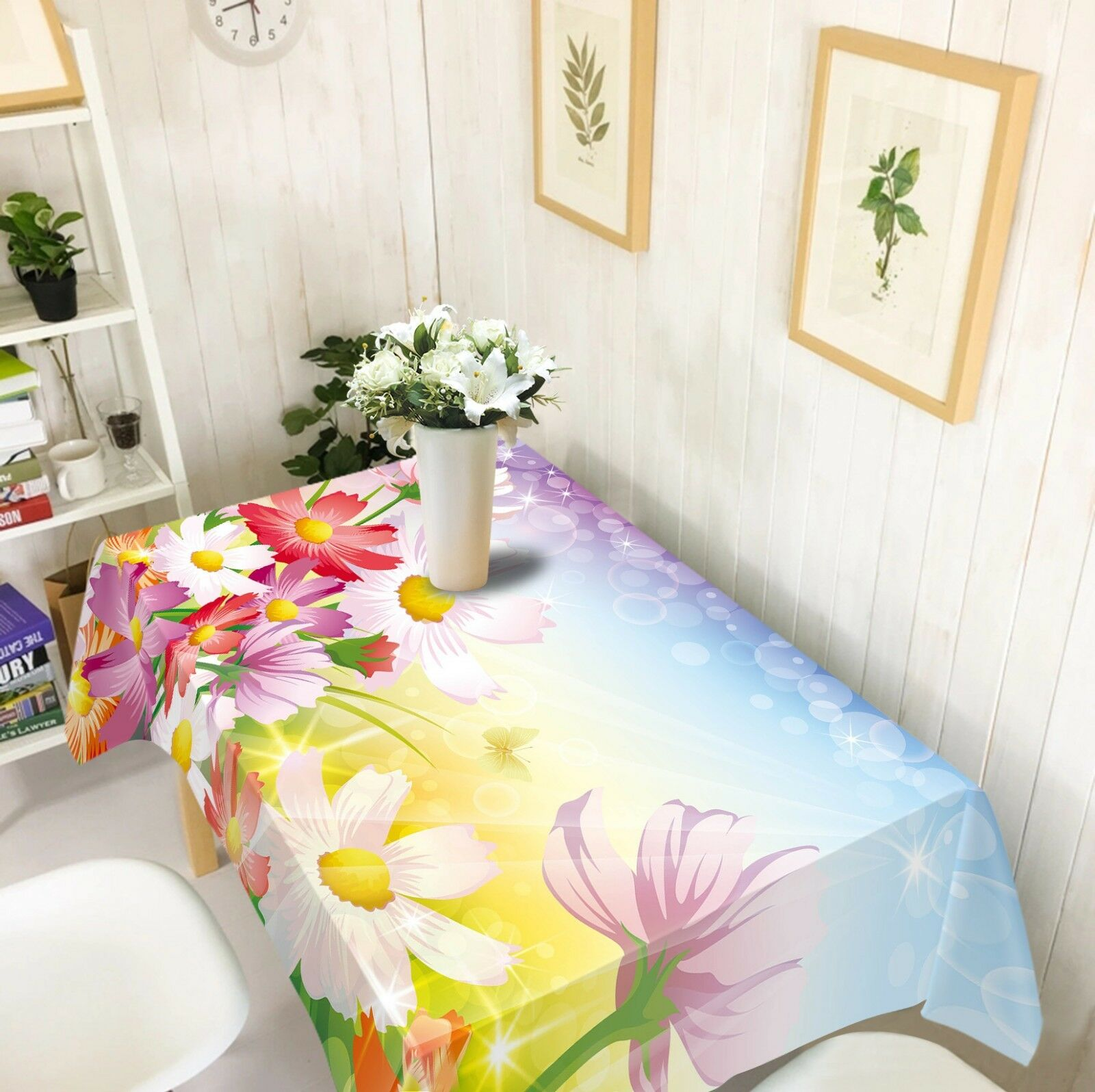 3D Couleur Flower 3 Tablecloth Table Cover Cloth Birthday Party Event AJ WALLPAPER