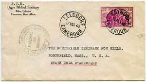 Cameroun-To-usa-ww2-1940-Printed-env-dager-Seminary-Bibia-CENSOR-parle-2f50