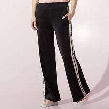 NWT New Juicy Couture Women's JUICY Velour Pants Black Size XL