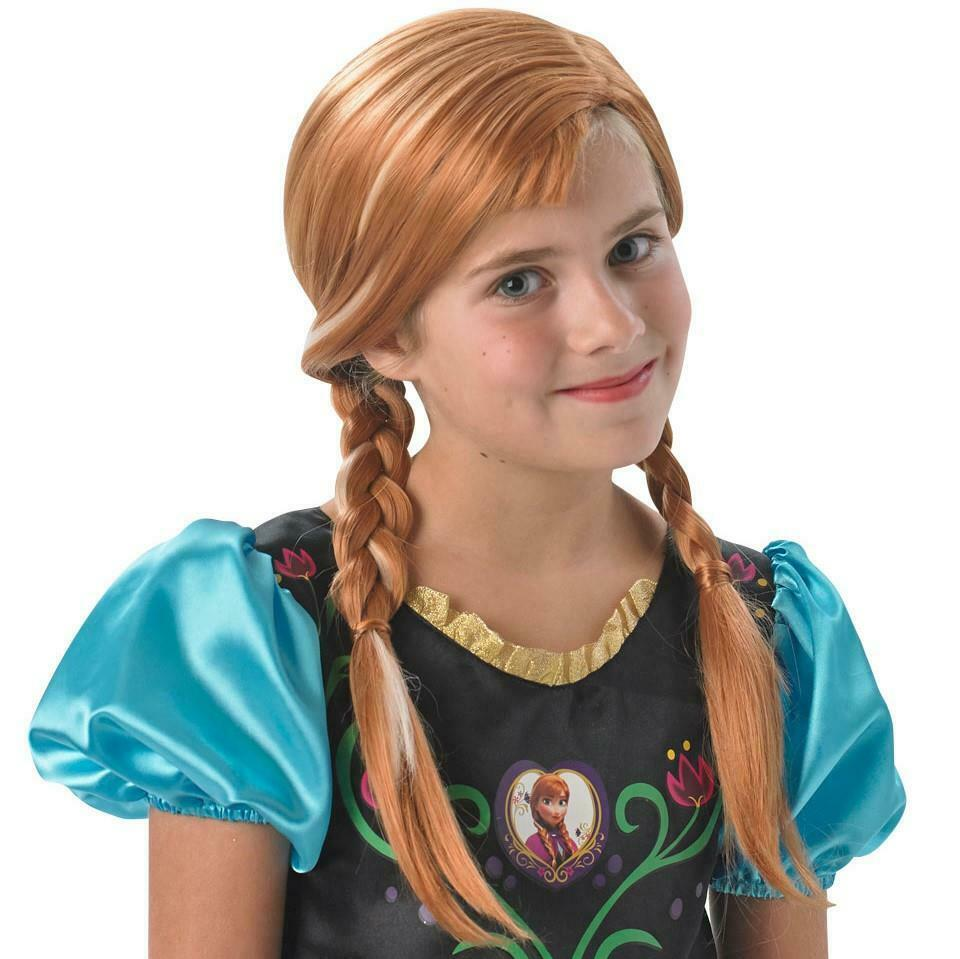 Child Disney Anna Wig Outfit Fancy Dress Frozen Fairytale Book Week Princess New