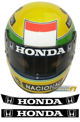 Ayrton Senna fan visor strip, three options available