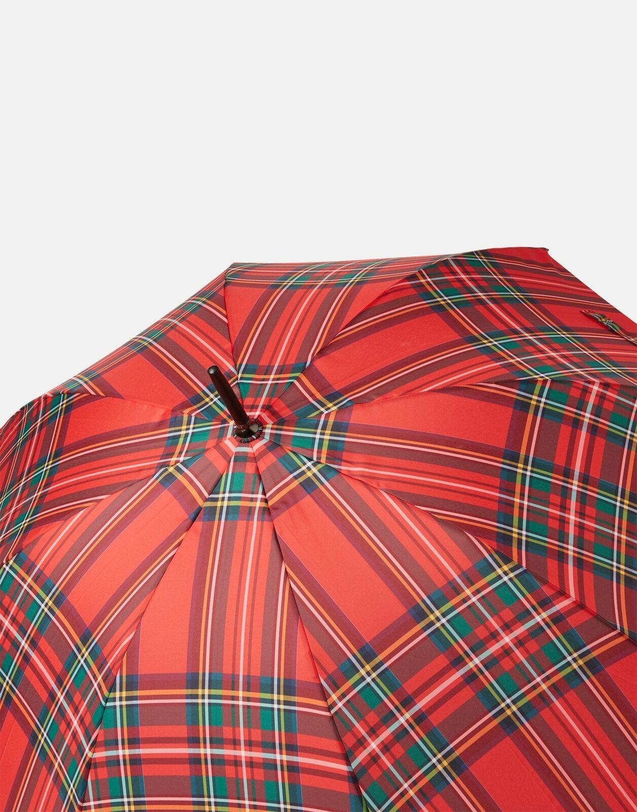 Joules Womens Kensington Walking Umbrella - Red Tartan - One Size