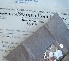 Vintage Antique French Metal Gold Sequins Couture Embroidery Costume 6mm