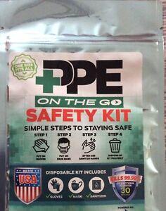 10 Packs / PPE Kit - Portable Safety Kit.