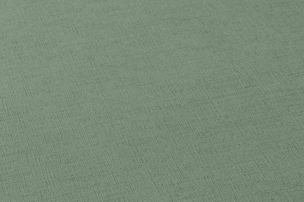 Vlies Tapete Uni grün Leinen Optik Ethnic Origin 37178-7 371787