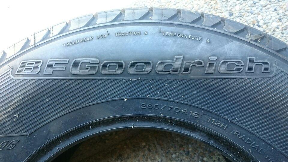 SUV-dæk, BFGoodrich, 265 / 70 / R16