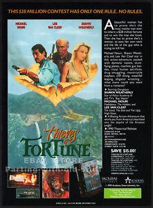 THIEVES-OF-FORTUNE-Original-1990-Trade-print-AD-LEE-VAN-CLEEF-SHAWN-WEATHERLY