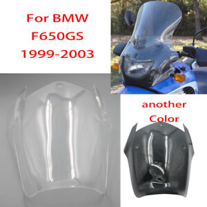 Fit-For-BMW-F650-GS-F650GS-1999-2000-2001-02-03-Clear-ABS-Windscreen-Windshield