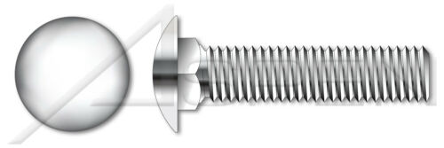 """40 pcs 1//4/""""-20 X 7//8/"""" Round Carriage Bolts Full Thread 18-8 Stainless"""