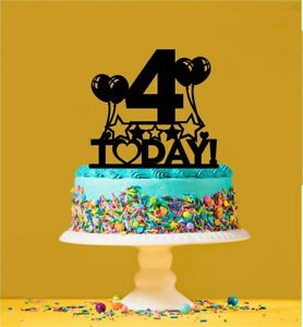 Awe Inspiring 4Th Birthday Cake Topper 4 Years Old Fourth Ebay Personalised Birthday Cards Veneteletsinfo
