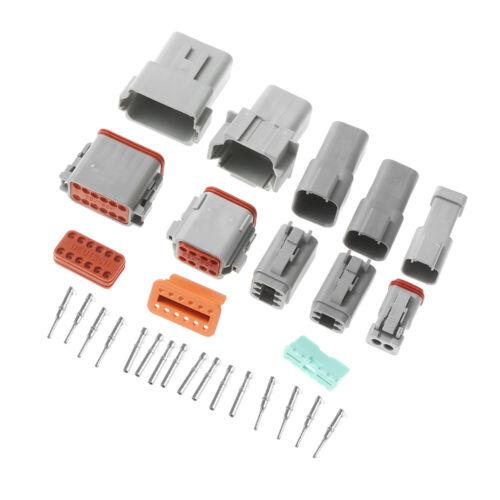Kits Male and Female Terminal Socket Plug Waterproof Connector DT06//04 Wiring
