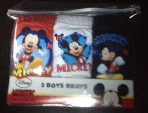 3 Prs Garçons Neuf Blanc Bleu Disney Mickey Mouse Slips Pantalon Coton 18/24 Mois-afficher Le Titre D'origine