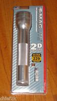 Maglite 2-d Cell Flashlight Silver Xenon Mag Lite Maglight S2d106