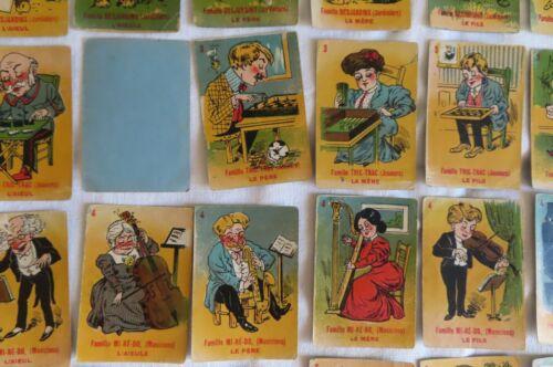mi re do etc  cartes pour compléter Jeu de 7 familles anciens métiers tric trac
