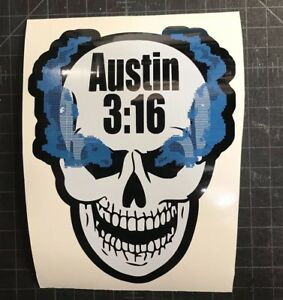 Stone Cold Steve Austin 3:16 Smoking Skull Vinyl Car Decal Sticker WWE WWF