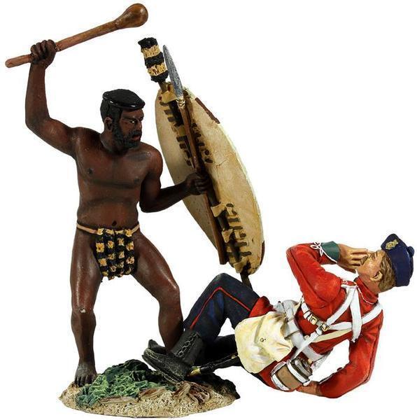 Britains Anglo Zulu Krieg 20148 Zulu Krieger Angriff auf Britisch 24TH Fuß MIB