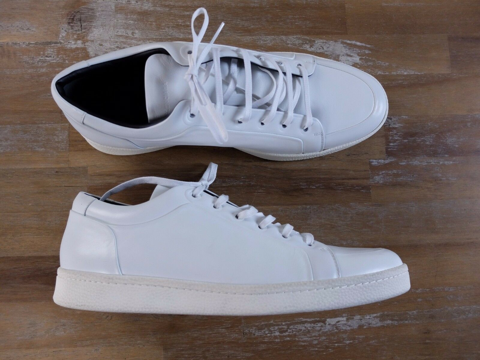 BALENCIAGA Low Blanc Baskets Authentique-Taille 11 us 44 eu 10 uk new in box