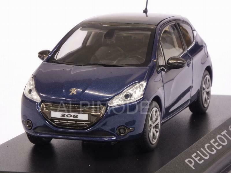 Peugeot 208 3P blå 1 43 NOREV 472774