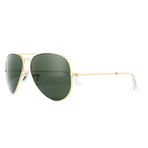 d7039aab85ae2 Ray-Ban Sunglasses Aviator 3025 L0205 Gold Green G-15 Medium 58mm ...