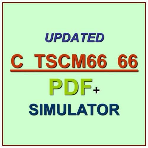 Latest SAP C/_TSCM66/_66 Verified Practice Test Exam QA PDF+Simulator