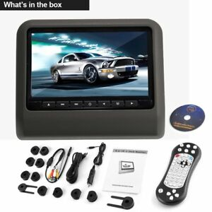 9 voiture appui t te moniteur vid o lecteur dvd avec usb sd 800 480 lcd 2017 ebay. Black Bedroom Furniture Sets. Home Design Ideas