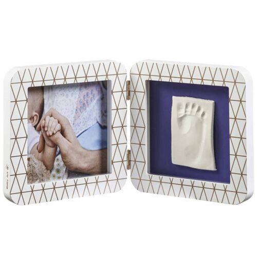 Baby Art Bilderrahmen mit Abdruck Set Handabdruck Fußabdruck mehrere Auswahl