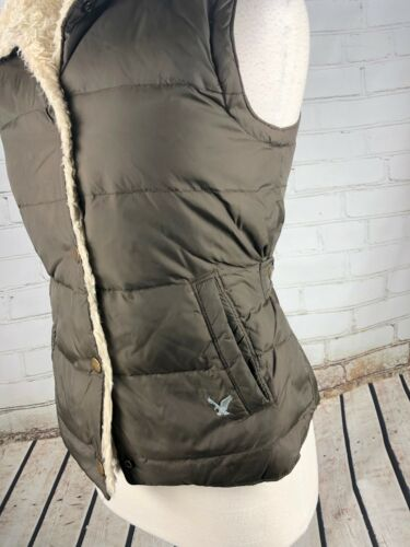 Inverno Jacket Down Puffer S American Feather Ae Eagle Vest Sherpa Womens trapuntato qER8Xw7