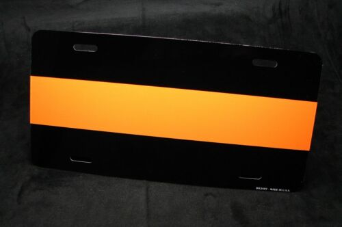 THIN ORANGE LINE METAL NOVELTY LICENSE PLATE FOR CARS   Search and Rescue