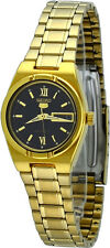 Seiko 5 SYM614 Women's Gold Tone Stainless Steel Day Date Automatic Watch