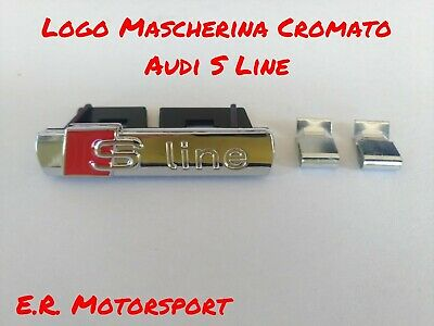 RS S Line AUDI Racing Motorsport 3d in alluminio Sticker adesivi scritta emblema
