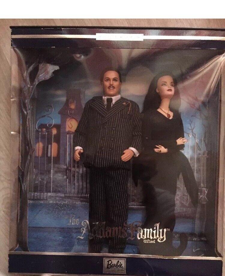 2000 Barbie E Ken Famiglia Addams Nuovo Nrfb