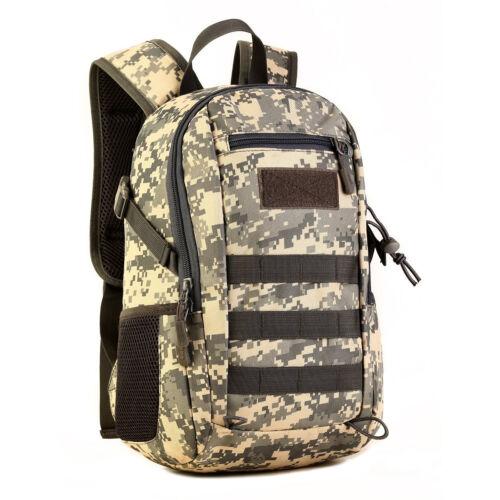 PLAYDO 12L Mini Daypack Military Molle Backpack Rucksack Tactical Assault Bags