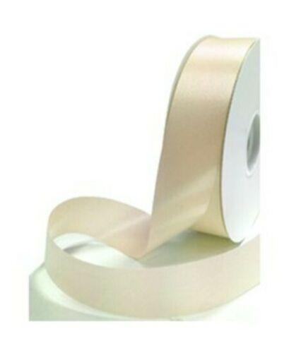 25mm Ribbon Gift Wrap Personalised Printed Ribbon Cream